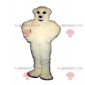 Eisbärenmaskottchen mit weißen Haaren - Redbrokoly.com