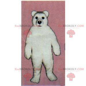 Weißes Eisbärenmaskottchen - Redbrokoly.com
