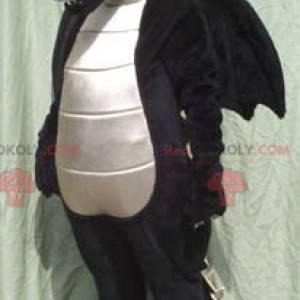 Velký černobílý drak maskot - Redbrokoly.com