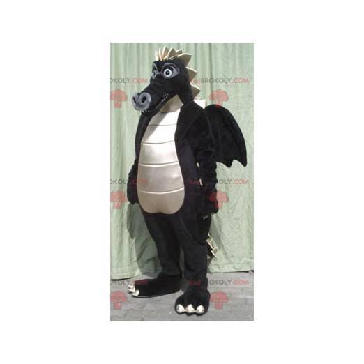 Maskotka duży czarny i biały smok - Redbrokoly.com