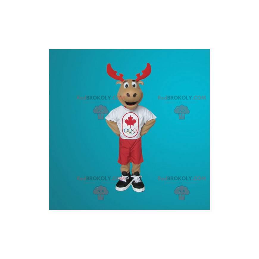 Giant reindeer caribou mascot - Redbrokoly.com