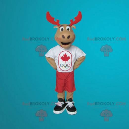 Gigantyczna maskotka karibu renifera - Redbrokoly.com