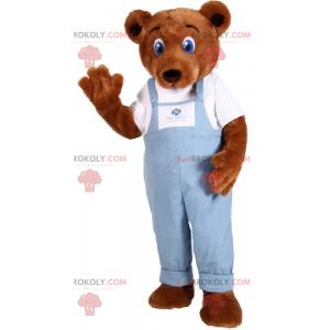 Roztomilý maskot medvídek s modrýma očima - Redbrokoly.com