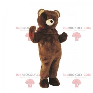 Weißnasiges Teddybär-Maskottchen - Redbrokoly.com