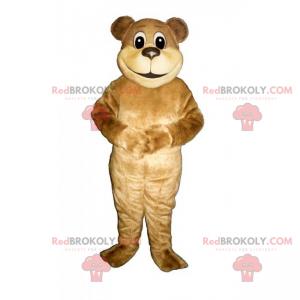 Bear maskot beige hår - Redbrokoly.com