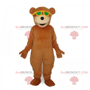 Bamse maskot med solbriller - Redbrokoly.com