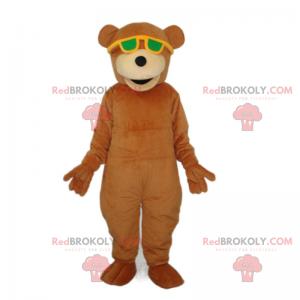 Maskot medvídek se slunečními brýlemi - Redbrokoly.com