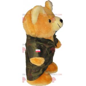 Medvěd maskot s kabátem - Redbrokoly.com