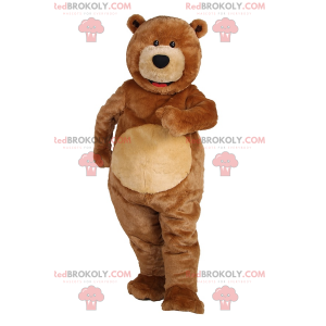 Bear mascot with small black eyes - Redbrokoly.com