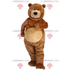 Bear maskot med små svarte øyne - Redbrokoly.com
