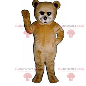 Béžový medvídek maskot - Redbrokoly.com
