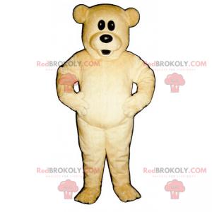 Maskottchen Teddybär mit großen Augen - Redbrokoly.com