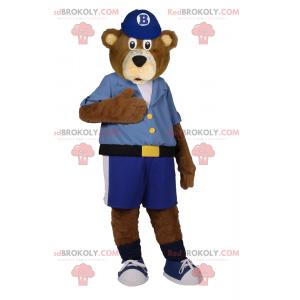 Teddybär Maskottchen in Bermudashorts - Redbrokoly.com