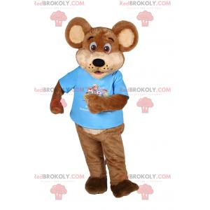 Teddy bear mascot in a t-shirt - Redbrokoly.com