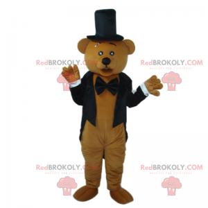 Bear mascot in gala attire - Redbrokoly.com