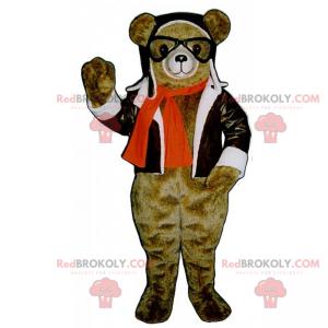 Bear maskot i pilot antrekk - Redbrokoly.com