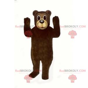 Maskot medvěd hnědý a béžový nos - Redbrokoly.com