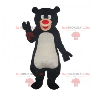 Black bear mascot with red nose - Redbrokoly.com