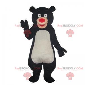 Schwarzbärenmaskottchen mit roter Nase - Redbrokoly.com