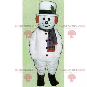 Feiertagsmaskottchen - Schneemann mit Hut - Redbrokoly.com