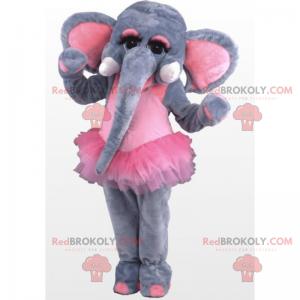 Elephant mascot in a dancing tutu - Redbrokoly.com