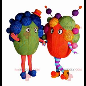 Mascotte in palline di lana multicolori - Redbrokoly.com