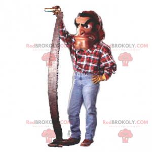 Lumberjack mascot in plaid shirt - Redbrokoly.com