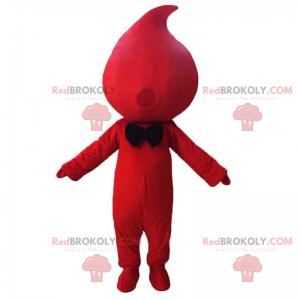Maskot kapka krve s motýlkem - Redbrokoly.com