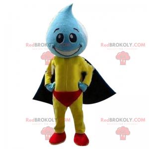 Vanndråpe maskot med kappe - Redbrokoly.com