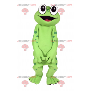 Maskot žába s velkýma očima as úsměvem - Redbrokoly.com