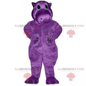 Mascotte di ippopotamo viola - Redbrokoly.com