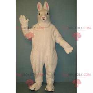 Bílý králík maskot s malými ušima - Redbrokoly.com