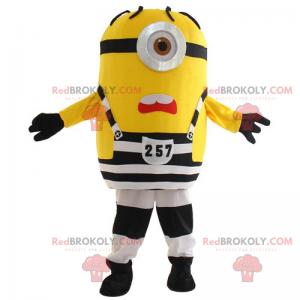 Minion-Maskottchen im Gefangenen-Outfit - Stuart -