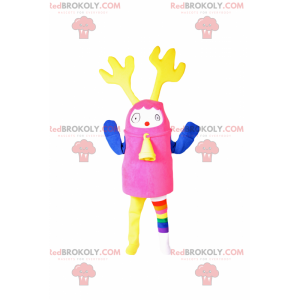 Flerfarget maskot med reinsdyrører - Redbrokoly.com