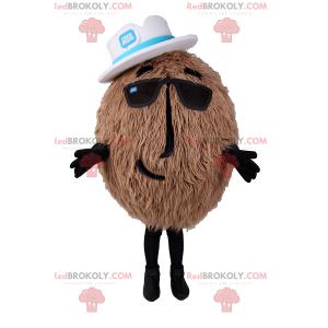 Coconut mascot with hat - Redbrokoly.com