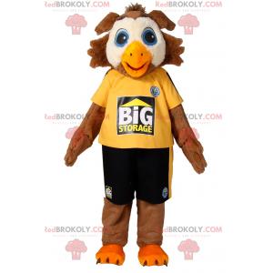 Vogelmaskottchen in Sportbekleidung - Redbrokoly.com
