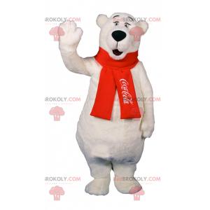 Maskot ledního medvěda s červeným šátkem Coca-Cola -
