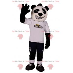 Panda maskot i fotballutstyr - Redbrokoly.com