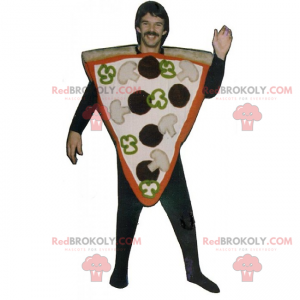 Fetta di pizza riempita di mascotte - Redbrokoly.com