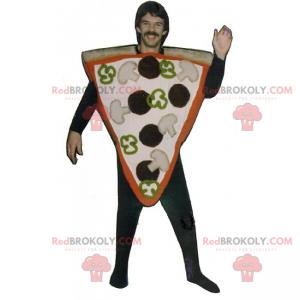 Mascote recheado com fatia de pizza - Redbrokoly.com