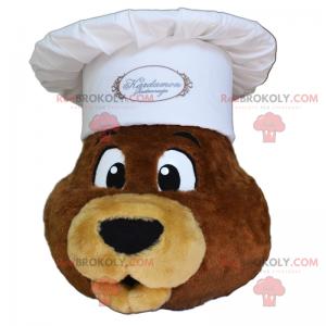 Charakter maskota - šéfkuchař medvědí hlavy - Redbrokoly.com