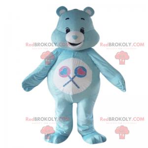 Mascote do personagem Care Bear - Blue Tougentille -