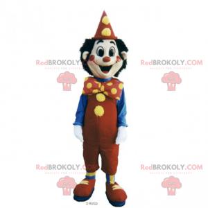 Mascota de personaje de circo - payaso sonriente -