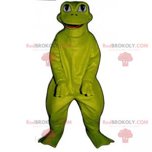 Maskottchen-Zeichentrickfigur - grüner Frosch - Redbrokoly.com