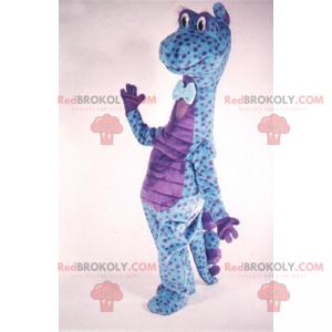 Mascot karaktertegning anime - Dinosaur med prikker og slips -