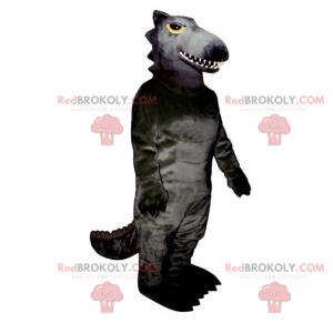 Maskot kresba postav anime - černý drak - Redbrokoly.com