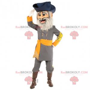 Maskottchen mit historischem Charakter - Kapitän des 19.