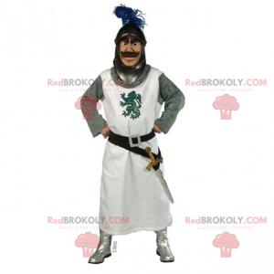 Mascote de personagem histórico - Cavaleiro da mesa redonda -