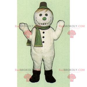 Winter character mascot - Snowman - Redbrokoly.com