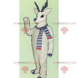 Winter character mascot - White reindeer - Redbrokoly.com